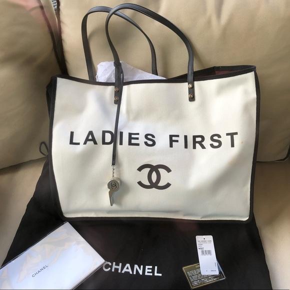 db92089f7fe4 CHANEL Handbags - 💯% AUTHENTIC CHANEL LADIES FIRST TOTE